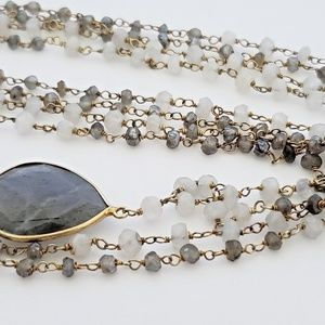 Jewelry - Sterling Silver Semi Precious Stone Layer Necklace